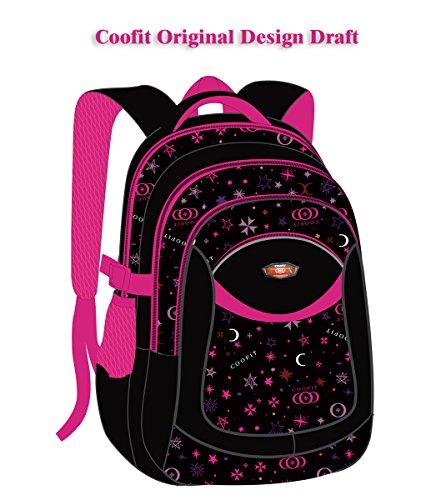 Schulrucksack, Coofit Kinderrucksack Daypack Schultasche Grundschule Backpack Schulranzen für Mädchen Jungen Teenager Jugendliche - 8