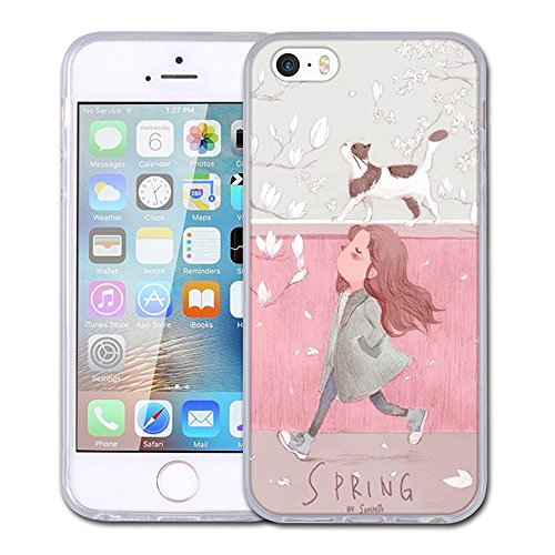 khkj Design Muster Transparent Bumper kratzfestem TPU Skin Back Cover Schutzhülle für Apple iPhone 55S SE Iphone Mobile-skin