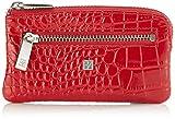 Bodenschatz Pisa - Llavero/Monedero de cuero mujer, color rojo, talla 12x8x1 cm (B x H x T)