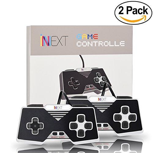 iNNEXT 2 Pack Gamepad /Controlador USB SNES para PC / portátil / tableta diseño retro para Super Famicom Windows PC (SNES para PC)