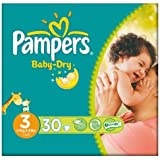 Pampers Baby Dry taille 3 (4-9 kg) Carry Paquet Midi 6x30 par paquet