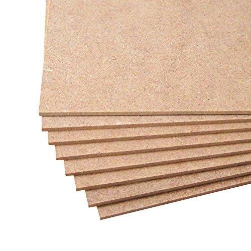 5 tableros de madera MDF. Tamaño A3 PLUS (483_x_330_mm) y espesor 5mm. Calidad de carpintería.