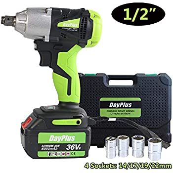 "Strong Torque 460Nm1//2/""Impact Power Drive Electric Brushless Cordless Wrench Gun"