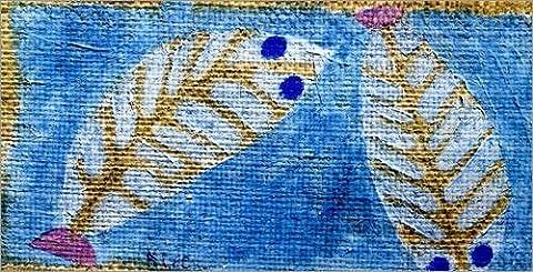 Impression sur bois 80 x 40 cm: Blue-eyed fish de Paul Klee / ARTOTHEK