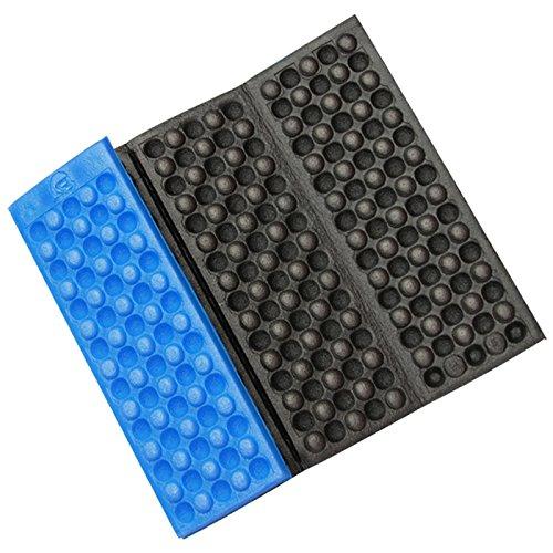 Tianu Pliante Anti-humidité Matelas Pliable de Camping Tapis de Mousse Tapis de Pique-Nique Pad, Bleu/Noir