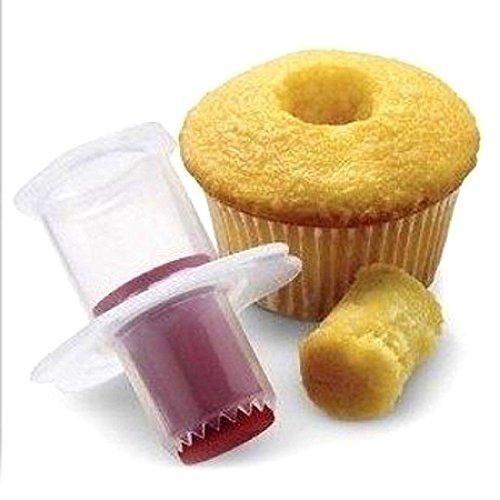 Cake corer émbolo cortador decorar repostería Divisor Filler aleatoria Cupcake