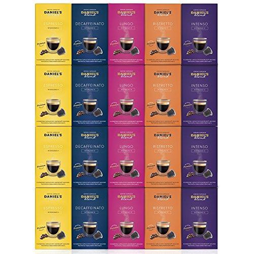 DANIELS BLEND - 200 Cápsulas de Café Compatibles con Máquinas Nespresso - SURTIDO