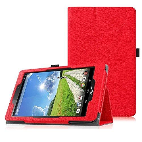 Fintie Acer Iconia One 8 (B1-810) Hülle - Hochwertige Kunstleder Slim Fit Stand Case Cover Schutzhülle Tasche Etui für Acer Iconia One 8 (B1-810) 20,3 cm (8 Zoll) Tablet, Rot