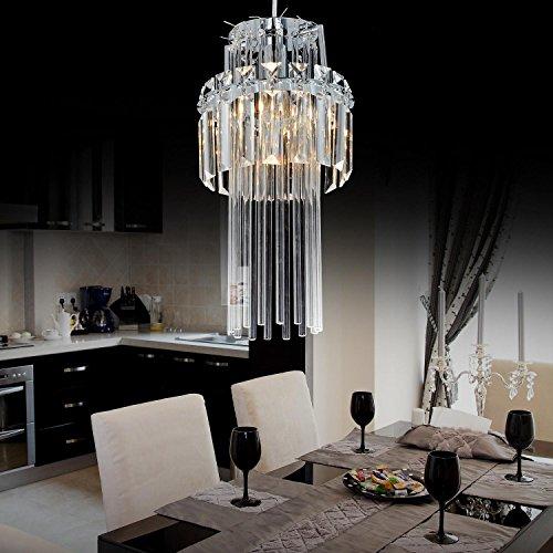 / E12 * 1- lampadario di cristallo semplice ed elegante E14 testa, lampadario di cristallo alla moda per la sala da pranzo
