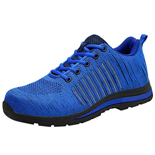 RYTEJFES Herren Arbeitsschuhe Schuh-Breathable Fitnessschuhe Leichte Lace Up Arbeitsversicherungsschuhe Gute Qualität Outdoorschuhe Schuhe (Sketcher Schuhe Womans)