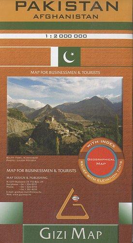 Pakistan geogr. (r) - 1/1,25M par Gizimap