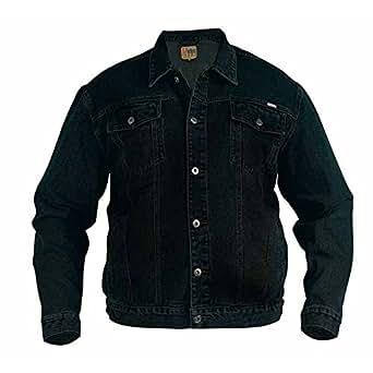 Duke Mens Western Trucker Style Denim Jacket (Small) (Black)