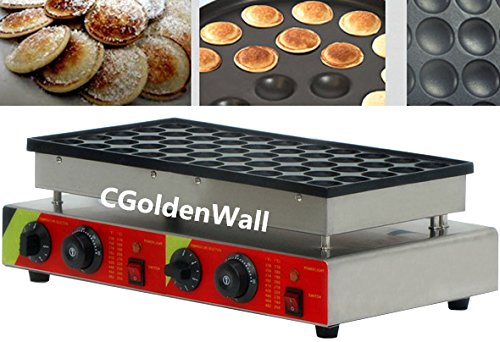Cgoldenwall Np-544 50 pcs automatique Poffertjes Grill Poffertjes machine Poffertjes Grill Dutch Mini crêpes machine Commercial gaufrier Waffle Baker machine machine 110 V/220 V CE