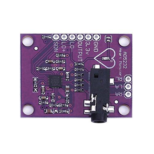 asiproper Single führen ad8232Herzfrequenz Monitor/ECG developemt Kit für Arduino (Car-audio-single)