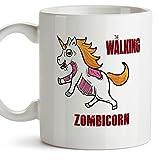 Einhorn-Becher (auf Englisch) - THE WALKING ZOMBICORN - Unicorn mug / Kaffeetasse als Geschenk für The Walking Dead Fans und für Einhorn-Fans - Keramik - 11oz / 350 ml