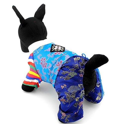 ranphy Kleine Haustier Kleidung für Hunde Katzen Traditionelle bestickt Korean koreanische Tracht Kostüm Kleidung (Kostüme Couture Tutu)