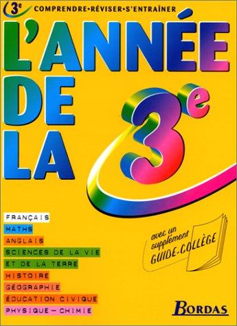 L'AD LA 3E  (ancienne édition) par L'Année de Bordas