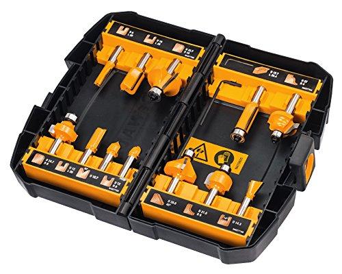 Dewalt dt90016-qz set da 12 frese per legno con gambo, 0 w, 0 v, giallo/nero, 8 mm