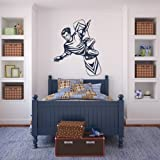 Snow boarder deportes y pasatiempos arte de pared adhesivos adhesivo pared 01 – 50cm Altura – 50cm Ancho – Negro Vinilo