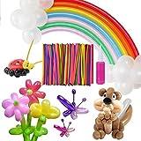 Palloncini Modellabili con Pompa – Meersee 200 Malloncini Colorati Misti Magici Palloncini in LatticeS per feste, compleano, matrimonio (lungo)