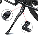 Bicycle Kickstand, Adjustable Aluminum Alloy MTB Bike Stand With Anti-slip Rubber Foot, Universal