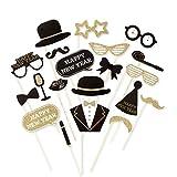 Foto Party Accessoires Fotorequisiten Happy New Year Fotoset Neues Jahr Fotografie Silvesterparty Sylvester Requisiten F