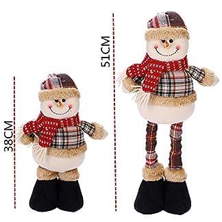 IBLUELOVER Objetos Adornos Navidad Juguete Poupee de Navidad Papá Noel Muñeco Nieve Reno télescopable niños Mignon Déco Ferroviario Navidad para Oficina casa bdjas. Árbol de Navidad réveillon