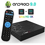 Mobipro - T95 Max [ 2019 Upgraded ] Android 9.0 TV Box 4GB RAM 32GB ROM Smart TV Box Support 3D 6K Ultra HD- 1 Year Replacement Guaranty.