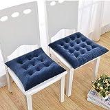 YYRZGW Kristall Samt Volltonfarbe Kissen Extra-Komfortable weiche Sitzkissen/Verwendet zum Essen, Patio, Camping, Küchenstühle Mehr-45x45Cm-Blau