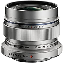 Olympus Objectif Zuiko Digital ED 12 mm 2.0 - Argent