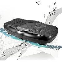Preisvergleich für Ncient Profi Vibrationsplatte Fitness + LCD Display + Fernbedienung + 3D-Vibration Ganzkörper + USB-Lautsprecher Vibrationsgerät, Vibrationstrainer bis150 kg