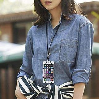 ARMRA 2 in 1 Handy-Umhängeband Umhängeband Schutzhülle Universal Smartphone Halskette Stoßfest Cover mit Ausweishalter für iPhone X 8 7 6 6S 5 SE iPod Touch Samsung Galaxy S8 S7 S6 Edge