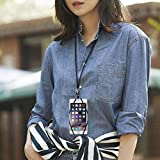 Armra, 2-in-1 Handy-Umhängeband / stoßfeste Hülle mit Ausweishalter, für iPhone X, 8, 7, 6, 6S, 5, SE, iPod Touch, Samsung Galaxy S8, S7, S6, Edge