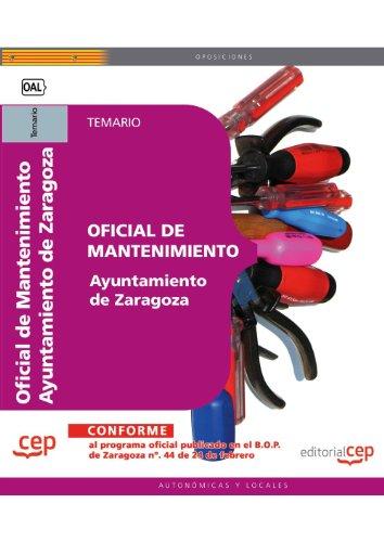 Oficial de Mantenimiento, Ayuntamiento de Zaragoza. Temario