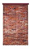 Gardine/Vorhang FCS L 7501, Ziegelsteine, 140 x 245 cm, 1 teil