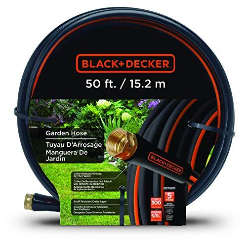 Black+Decker BD70201 Gartenschlauch, mittelgroß Mittelstarke Widerstandsfähigkeit 50-Foot