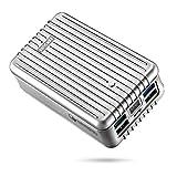 Zendure A8QC 26800mAh Powerbank Externer Akku,Akkupack mit Qualcomm Quick Charge 3.0, kompakter Zusatzakku mit 4-Port und LED Digitaler Anzeige für iPhone 7/7 plus, iPad, Samsung Galaxy und mehr Smartphone -Silber
