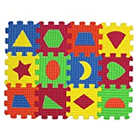 Winwinfly Kids Baby Geometric Puzzle Mats Carpet Babies Foam Learning Toys