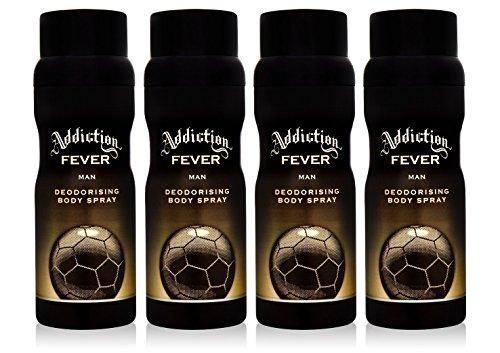 4x Addiction Fever Herren deo Body Spray 150ml
