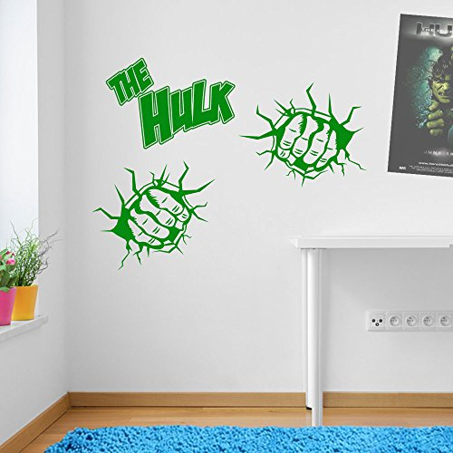 Incredible Hulk Fists Marvel Superhero Children's Hands Wall Decorations Window Stickers Wall Decor Wall Stickers Wall Art Wall Decals Stickers Wall Decal Decals Mural Décor Diy Deco Removable Wall Decals Colorful Stickers by Vinyl Concept