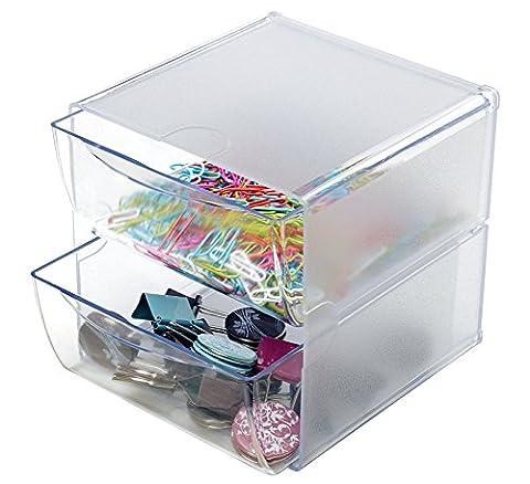 Stackable 2 Drawer Cube Storage Organizer-6