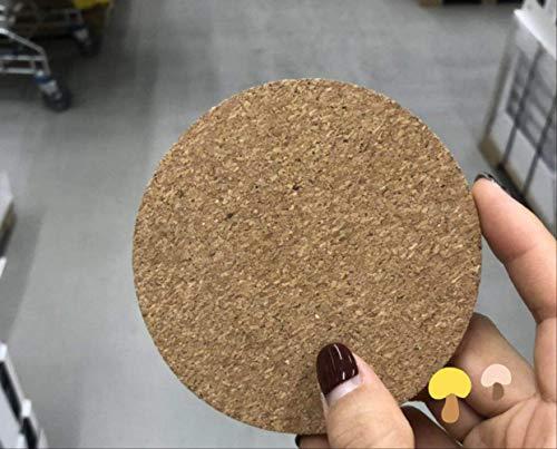DDLLJ Korkmatte Hitzeschild Glas Pad Durchmesser Anti-Rutsch-Isolierte Runde Kaffee Tee Blank 10Cm Untersetzer Set von 6 Rundschreiben (10 Tasse-kaffee-topf Braun)