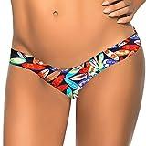 Damen G-String FORH Brasilianischer Druck Bikini Sexy Unterseiten Zapfen Strand Bikinihose Beach Shorts Low Waist Hotpants Badestrand Badeanzug Badebekleidung Bikinihose (S, Schwarz F)