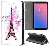 Samsung Galaxy S3 / S3 Neo Hülle Premium Smart Einseitig Flipcover Hülle Samsung S3 Neo Flip Case Handyhülle Samsung S3 Motiv (1078 Eifelturm Paris Frankreich Rosa Pink)
