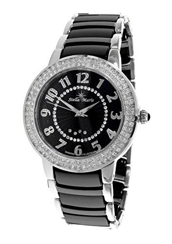 Stella Maris STM13G464 - Reloj de cuarzo con correa de cerámica para mujer, color negro