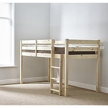 Shorty Mid Sleeper Bed Frame Whitewash Amazon Co Uk Kitchen Home