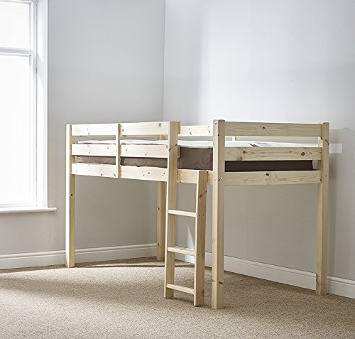 cabin bed - 3ft single wooden midi sleeper - pine bed for sale  Delivered anywhere in UK