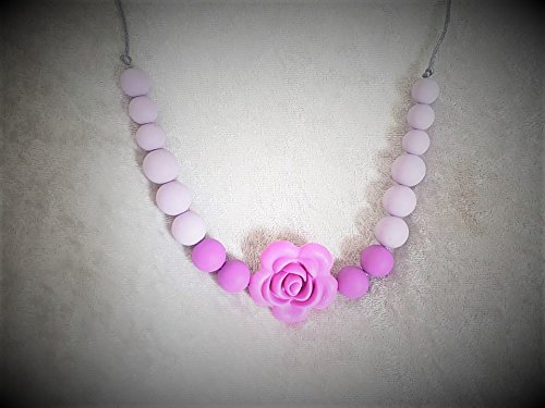necklace-of-portage-maternity-birth-breastfeeding-for-mom-and-baby-food-silicone-pink-flower-version