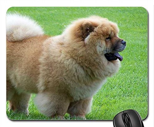 chow-chow-on-grass-mouse-pad-mousepad-dogs-mouse-pad