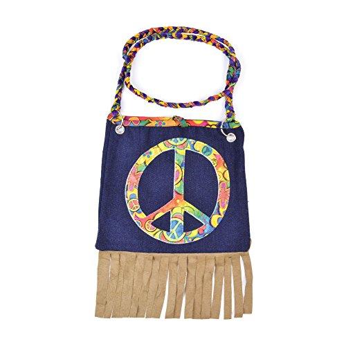 Bristol Novelty BA073 Hippy Handbag, One Size